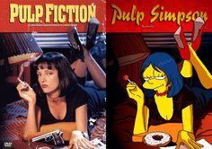 Releitura de posters com os personagens dos Simpsons  http://bistrocultural.com/12583/cinema-simpsons.html