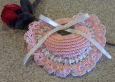 crochet heart sachet