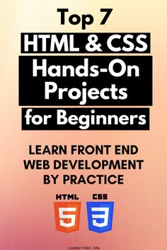 What's a better way to learn HTML and CSS than to make something from it! Let's see the Top 7 HTML CSS projects for beginners to kick off their journey. Basic Computer Programming, Learn Computer Coding, Learn Programming, Learn Coding, Html Programming Language, Programming Websites, Computer Basics, Coding Websites, Learning Websites
