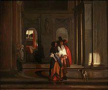 Pieter de Hooch - La partenza per una passeggiata, 1663–65, Musée des Beaux-Arts, Strasburgo