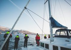 On this fishing tour in Tromsø, you will be able to catch, prepare & taste your own catch on a catamaran with a small group. We have a success rate. Pukka, Tromso, Catamaran, Getting Out, Norway, Fishing, Boat, Lunch, Tours