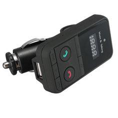 Car Handsfree Kit Wireless Bluetooth FM Transmitter USB SD LCD Remote MP3 Mic #UnbrandedGeneric