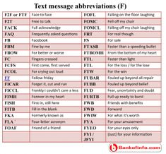It is the largest collection of online chat and text message abbreviations, acronyms and shorthand you will find all of the popular chat abbreviations. English Phrases, English Words, Sms Language, English Language, Text Abbreviations, Bucket List For Teens, English Vocabulary, Text Messages, Me Quotes