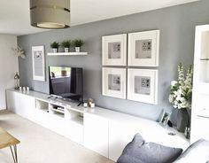 Room setup with IKEA furniture: the 50 best ideas ▷ Raumgestaltung mit IKEA Möbeln: Die 50 besten Ideen Living Room Bedroom, Interior Design Living Room, Living Room Designs, Living Room Decor, Dining Room, Tv Wall Design, Best Ikea, Room Setup, Ikea Furniture
