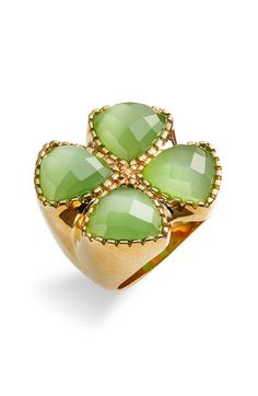 Ariella Collection Clover Cat's Eye Ring - Nordstrom