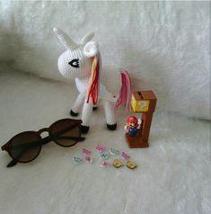 Amigurumi Örgü Tek Boynuzlu At ( Unicorn ) Yapılışı ( Anlatımlı )