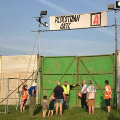 About to open the gates for Glastonbury Festival 2017