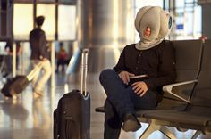 Fall asleep anywhere thanks to Kawamura-Ganjavian's amazing Ostrich Pillow