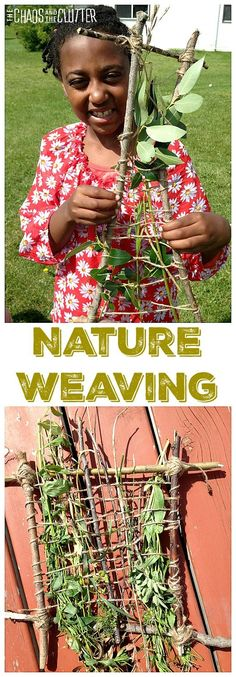 This nature weaving activity combines creativity and the outdoors. It costs nothing and encourages exploration of textures and nature.