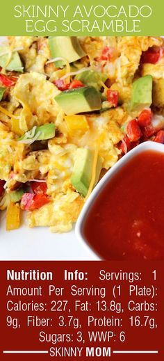 Skinny Avocado Egg Scramble | Skinny Mom | Tips for Moms | Fitness | Food | Fashion | Family