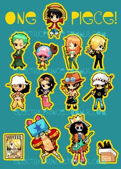 Trafalgar D. Water Law, Portgas D. Ace and Straw hat pirates crew - Monkey D. luffy, Tony Tony Chopper, Roronoa Zoro, Sanji, Brook, Usopp, Nami, Franky, Nico Robin One piece