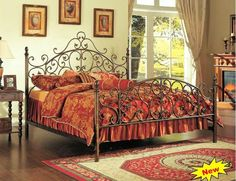 Wood And Wrought Iron Bed Frames   Bedroom Ideas   Pinterest ...