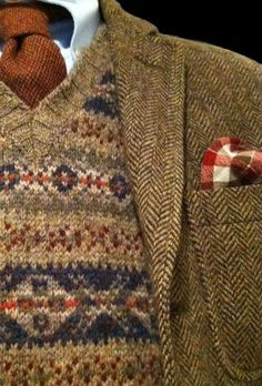 Get out those knitting needles and hit the really very difficult but very attractive FairIsle patterns..