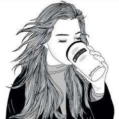 Image via We Heart It #art #awesome #city #coat #coffee #drawing #eyebrow #girl #grunge #hair #hairstyle #hippie #indie #life #manga #outlines #pale #sketch #wild #wind #winter