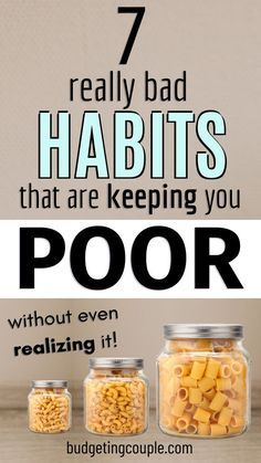 7 really bad habbits that are keeping you poor without even realizing it.