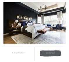 Marie Flanigan Interiors - 8 Bedroom paint colors to fit any mood - benjamin moore - witching hour Bedroom Paint Colors, Home Reno, Cool Paintings, Home Interior Design, Color Inspiration, Master Bedroom, Master Suite, Benjamin Moore, Interiors