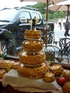 A pork pie wedding cake at Eley's of Ironbridge by Ian S Pie Wedding Cake, Birthday Bbq, Wedding Cake Alternatives, Sponge Cake, Fancy Cakes, Muffin, Breakfast, Desserts, February