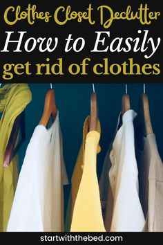 No regrets! I don't feel guilty about decluttering clothes at all. These decluttering tips are great ways to get rid of clothes. Best Closet Organization, Organization Hacks, Get Rid Of Clothes Tips, Where To Sell, Closet Bedroom, Decluttering, Organizing Ideas, Regrets, Storage Ideas