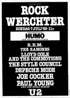 Rock Torhout/ Rock Werchter 1985 - Geschiedenis - Rock Werchter 2016