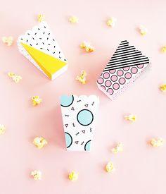 Pop Printable Popcorn Snack Box | DESIGN IS YAY!