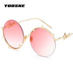 0543883f055  FASHION  NEW YOOSKE Round Sunglasses Women Personality Thorns Frame Sun  Glasses Eyewear For Female
