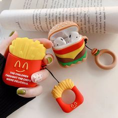 Buy Donald Duck AirPods Cover Bluetooth Wireless Headset Set Hamburger Fries Blu-ray earphone silicone case with the same paragraph lanyard This case is only for Apple's wireless Bluetooth headset Material: Silicone Cute Cases, Cute Phone Cases, Iphone Cases, Mobile Accessories, Iphone Accessories, Batterie Portable, Bluetooth Wireless Earphones, Headphones, Apple Airpods 2