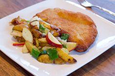 Bratkartoffeln mit Apfel