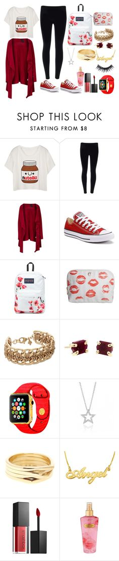 """""""Red day to school"""" by queenalisa on Polyvore featuring Rundholz, Converse, JanSport, Charlotte Tilbury, Repossi, Smashbox, Victoria's Secret and Manic Panic"""