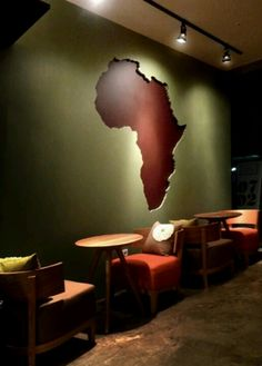 track lighting to feature world map mural