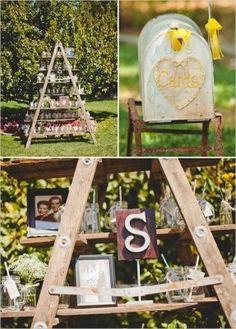 mailbox as a holder for wedding cards