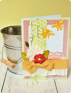 Paper Issues: Bees and Hexagons Card
