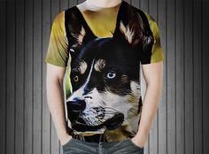 T-Shirt - Dog husky winter snow dog animal https://www.donateprint.com/products/600001549898