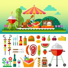 Summer Picnic - Food Objects