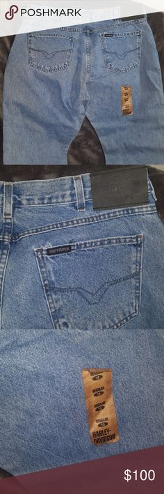 HARLEY DAVIDSON VINTAGE HIGH WAISTED BOOT CUT JEAN HARLEY DAVIDSON VINTAGE HIGH WAISTED BOOT CUT JEANS ~ NEW has sticker label on back leg ~ Ladies 18 regular. Stone Wash MOM STYLE JEANS IN THE HIGH WAIST WAISTED CUT  and a HIGHLY SOUGHT AFTER STYLE!! I SHIP DAILY Rise is about 12 inches and the Inseam is about 31 inches Harley-Davidson Jeans Boot Cut