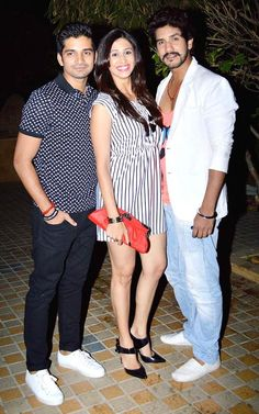 Vishal Singh with Kishwer Merchant and Suyash Kumar at the launch of the GR8 Calendar 2014. #Style #Bollywood #Fashion #Beauty