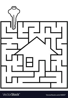 Royalty-Free Vector Images by michaeldb (over Real Estate Yard Signs, Real Estate Houses, Free Vector Images, Vector Free, Vector Graph, Drafting Tools, Mazes For Kids, Mind Thoughts, Labyrinth