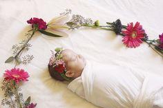 Newborn floral crown Posies Floral
