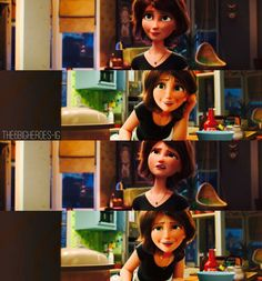 Aunt Cass - Big Hero 6. The animation is INCREDIBLE. She's so real!!!