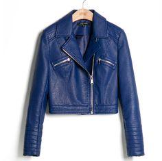 куртка кожаная женская  пу кожи замши женские короткие мотоцикл байкер пальто куртки кожаные куртки для женщинкупить в магазине Kelvin & AliceнаAliExpress