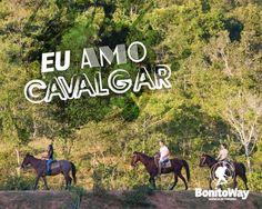 Para quem ama cavalgar!  Foto: Estância Mimosa - Bonito/MS  #euamocavalgar