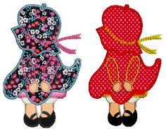Sunbonnet Sue Marilyn machine embroidery Applique design4