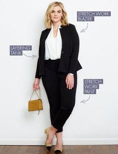 Plus Size Workwear Kit: Dresses, Pants, and Blazers - Ropa para curvas - Plus Size Business Attire, Business Outfit Frau, Plus Size Workwear, Business Chic, Business Fashion, Komplette Outfits, Casual Work Outfits, Business Casual Outfits, Outfit Work