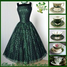 Tea Dresses, Irish Eyes Are Smiling, Beautiful Evening Gowns, Royal Tea, Jewelry Party, Vintage China, Absolutely Gorgeous, Tea Time, Ireland