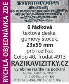Textový štoček - deska pro razítka Colop 40, Trodat 4913
