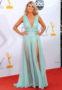 Heidi Klum is a goddess in this Alexandre Vauthier gown!