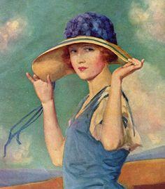 beaches, artworks, blue, vintage prints, joseph bowler