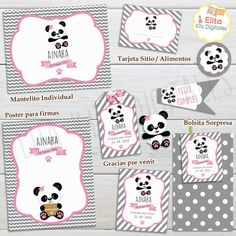 Kit Imprimible Osito Panda Nena Bolo Panda, Panda Baby Showers, Ideas Para Fiestas, Alice, Baby Party, Party Printables, Baby Shower Themes, New Baby Products, Merry