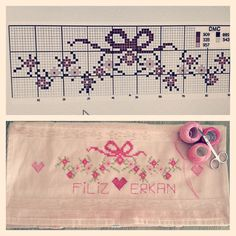 This Pin was discovered by İre Mini Cross Stitch, Cross Stitch Borders, Cross Stitch Alphabet, Cross Stitch Flowers, Cross Stitch Designs, Cross Stitching, Cross Stitch Embroidery, Blackwork Patterns, Hand Embroidery Patterns