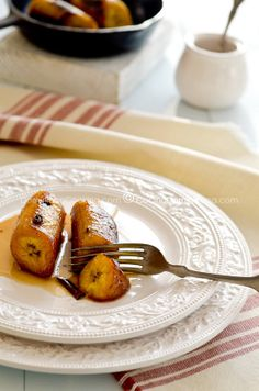 Platano al caldero :) Very ripe plantain cooked with sugar and cinnamon, Dominican cuisine.