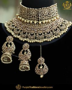 featured:- Champagne Stone Double Choker Set Shop our latest collection at o. Indian Bridal Jewelry Sets, Wedding Jewelry Sets, Bridal Jewellery, Fancy Jewellery, Jewellery Sale, Buy Jewellery Online, Handmade Jewellery, Jewelry Stores, Silver Jewelry